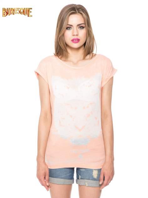 Jasnopomarańczowy t-shirt z nadrukiem tygrysa                                  zdj.                                  10