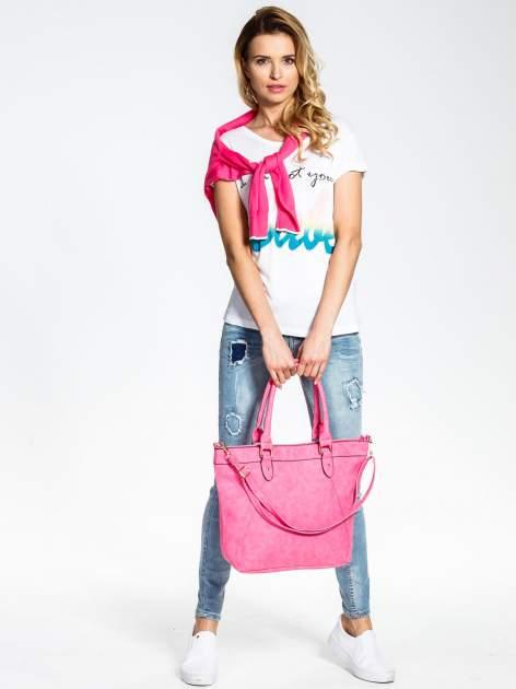 Jasnoróżoa torba city bag na ramię                                  zdj.                                  2