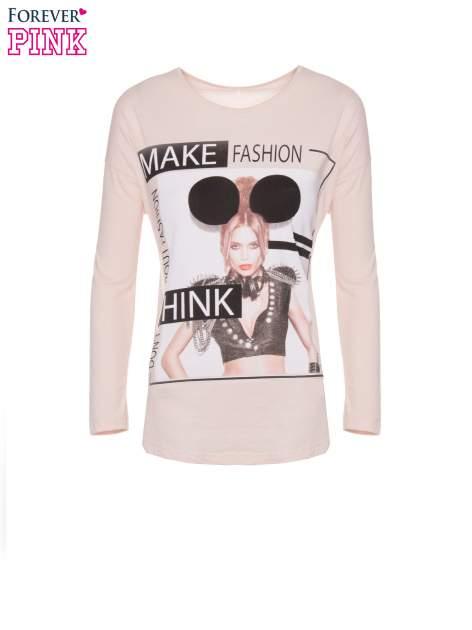 Jasnoróżowa bluzka w stylu fashion                                  zdj.                                  5