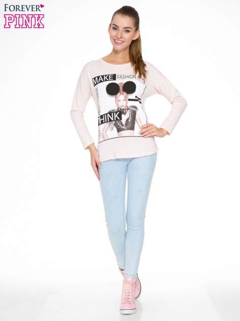 Jasnoróżowa bluzka w stylu fashion                                  zdj.                                  2