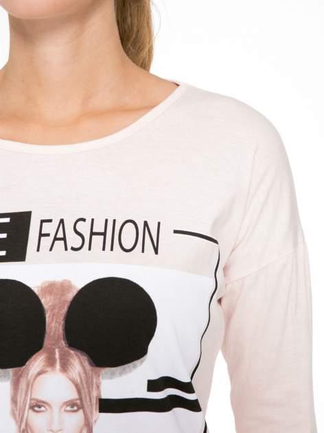 Jasnoróżowa bluzka w stylu fashion                                  zdj.                                  6