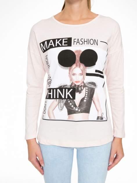 Jasnoróżowa bluzka w stylu fashion                                  zdj.                                  8