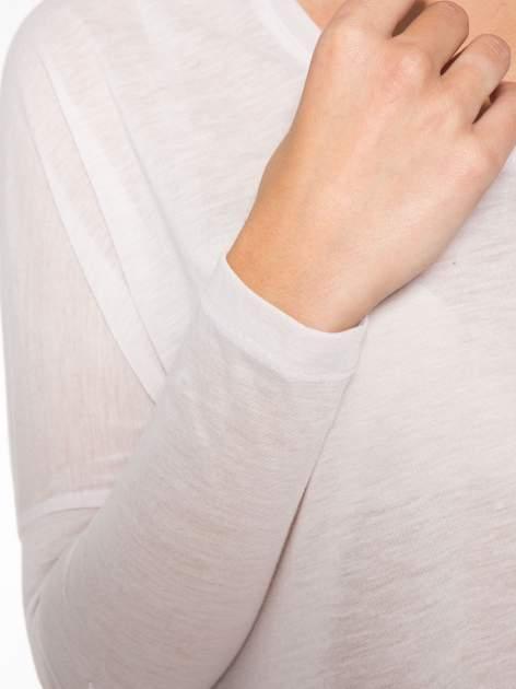 Jasnoróżowa bluzka z asymetrycznym cięciem na dole                                  zdj.                                  11