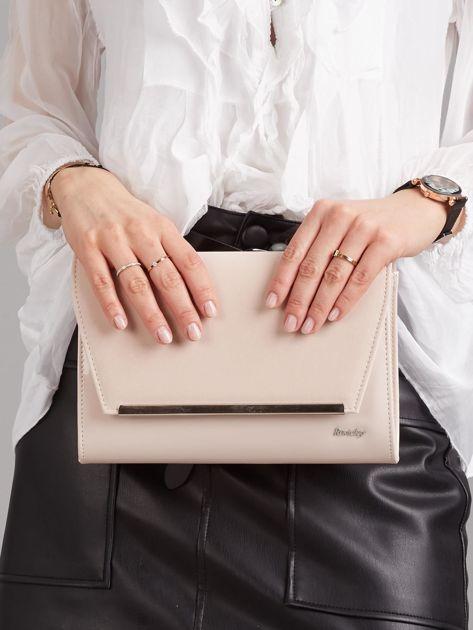 Jasnoróżowa damska torebka kopertówka                              zdj.                              1