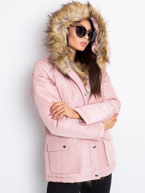 Jasnoróżowa kurtka Winter                              zdj.                              3