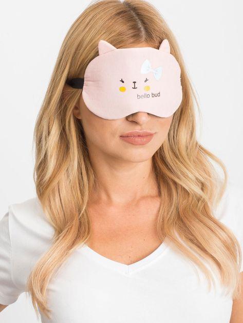 Jasnoróżowa maska do spania                              zdj.                              2