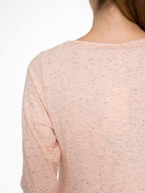 Jasnoróżowa melanżowa bluzka z rękawami 3/4                                  zdj.                                  8