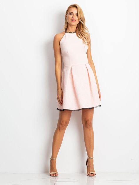 Jasnoróżowa sukienka Kim                              zdj.                              4