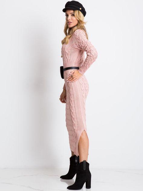 Jasnoróżowa sukienka Time                              zdj.                              4