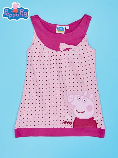 Jasnoróżowa sukienka dla dziewczynki ŚWINKA PEPPA