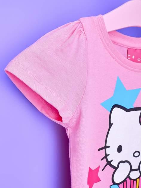 Jasnoróżowa tunika dla dziewczynki z motywem HELLO KITTY                                  zdj.                                  6