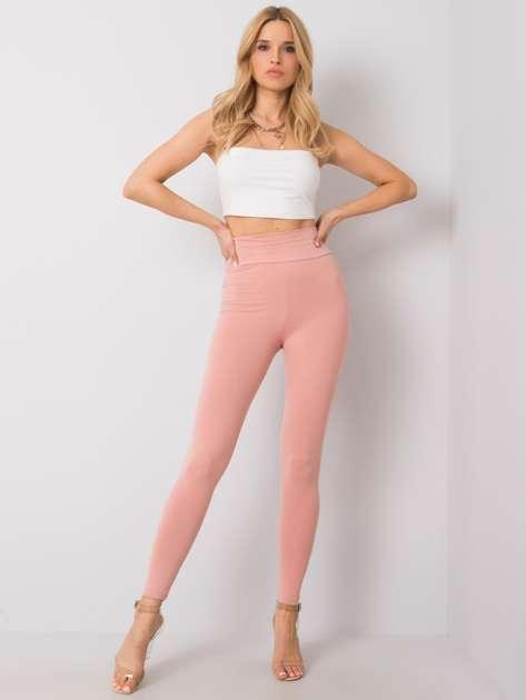 Jasnoróżowe legginsy bawełniane Kenna RUE PARIS