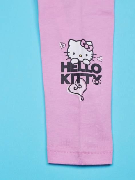 Jasnoróżowe legginsy dla dziewczynki HELLO KITTY                                   zdj.                                  4