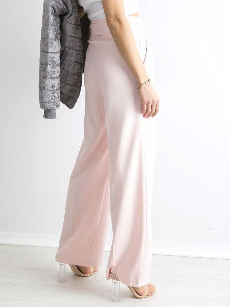 Jasnoróżowe spodnie z wysokim stanem                              zdj.                              2
