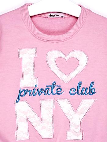 Jasnoróżowy komplet dla dziewczynki bluza i spodnie dresowe                              zdj.                              5