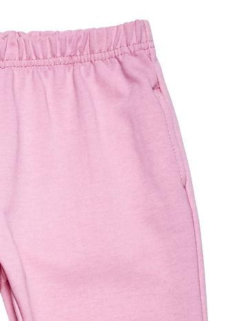 Jasnoróżowy komplet dla dziewczynki bluza i spodnie dresowe                              zdj.                              8