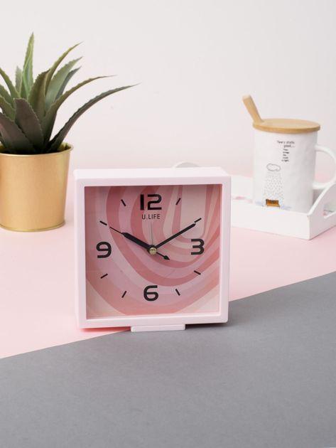 Jasnoróżowy kwadratowy zegarek                              zdj.                              2