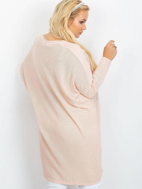 Jasnoróżowy sweter plus size Ester                              zdj.                              2