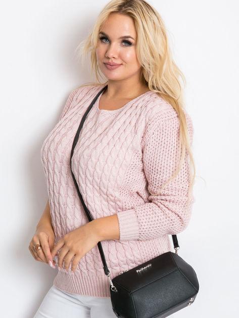 Jasnoróżowy sweter plus size Now                               zdj.                              4