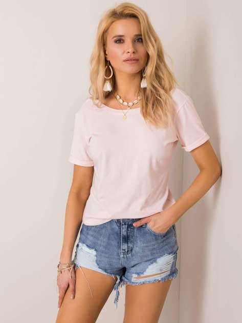 Jasnoróżowy t-shirt Lucie