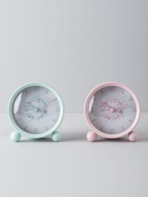 Jasnoróżowy zegarek stołowy                              zdj.                              5