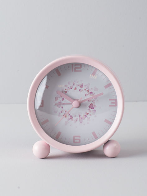 Jasnoróżowy zegarek stołowy                              zdj.                              1