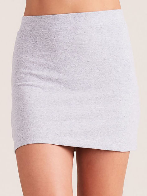 Jasnoszara dresowa spódnica mini                              zdj.                              3