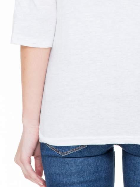 Jasnoszara luźna bluzka z rękawem 3/4                                  zdj.                                  7
