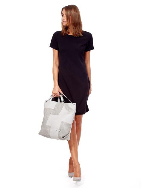 Jasnoszara torba-plecak z odpinanymi szelkami                              zdj.                              6