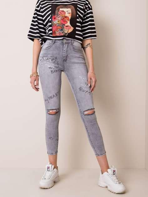 Jasnoszare jeansy Teenage