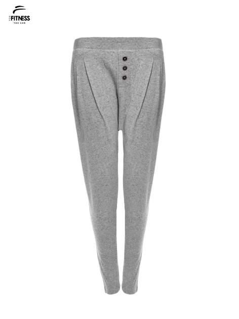 Jasnoszare spodnie dresowe typu baggy z guziczkami                                  zdj.                                  4