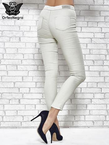 Jasnoszare spodnie rurki skinny                                  zdj.                                  4