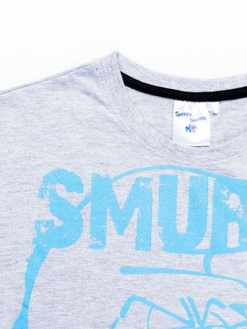 Jasnoszary t-shirt męski SMERFY                                  zdj.                                  11