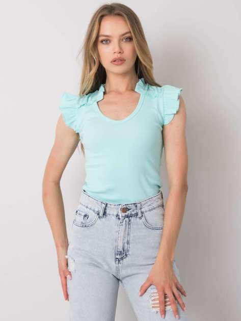 Jasnoturkusowa bluzka Marion