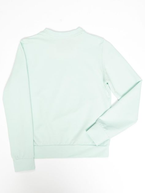 Jasnoturkusowa bluza młodzieżowa                              zdj.                              2