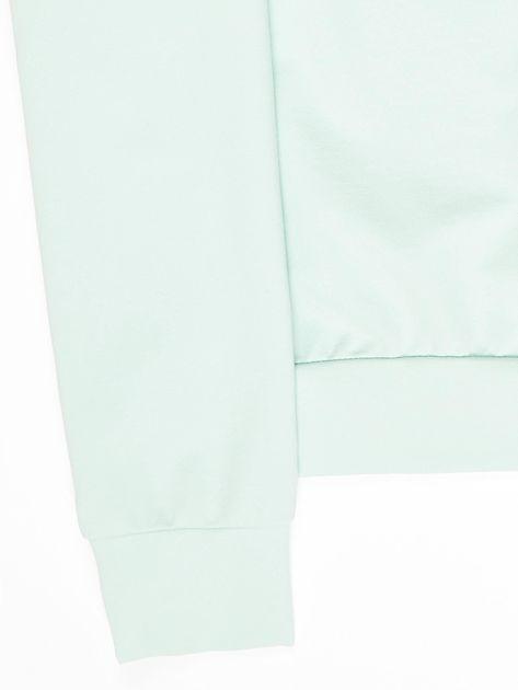 Jasnoturkusowa bluza młodzieżowa                              zdj.                              4