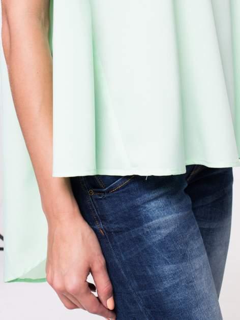 Jasnozielona koszula dzwonek z wydłużanym tyłem                                  zdj.                                  8