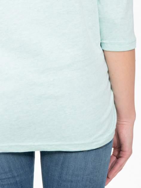 Jasnozielona luźna bluzka z rękawem 3/4                                  zdj.                                  9