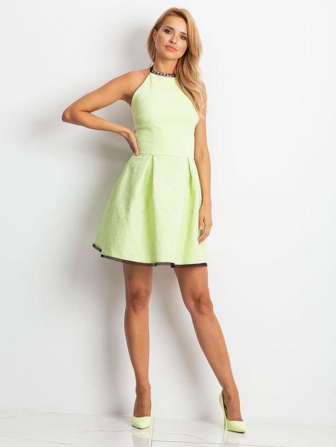 Jasnozielona sukienka Kim                              zdj.                              4