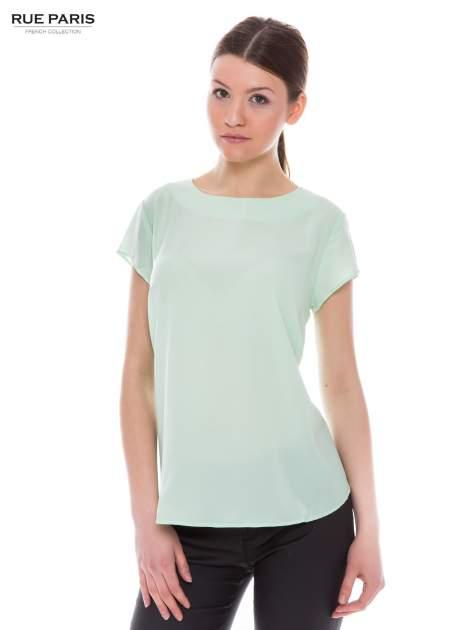 Jasnozielona zwiewna bluzka