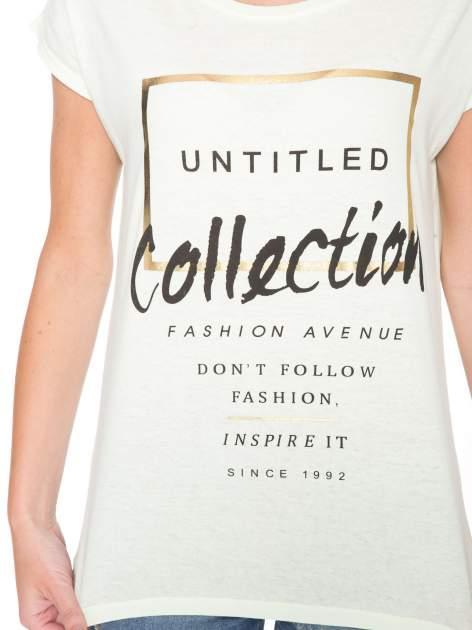 Jasnozielony t-shirt z nadrukiem UNTITLED COLLECTION                                  zdj.                                  6