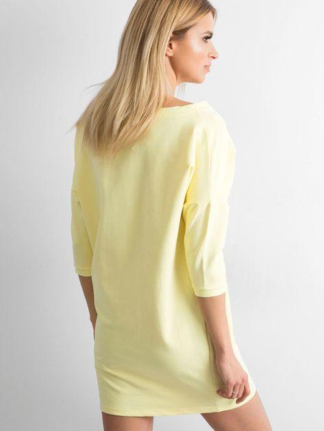 Jasnożółta bawełniana sukienka                              zdj.                              2