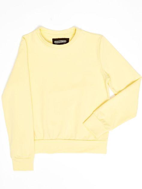 Jasnożółta bluza młodzieżowa                              zdj.                              8