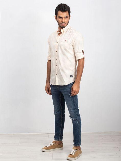 Jasnożółta koszula męska Concrete                              zdj.                              4