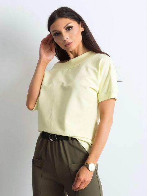 Jasnożółta melanżowa bluzka Lemontree                              zdj.                              1