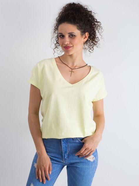 Jasnożółty t-shirt Emory
