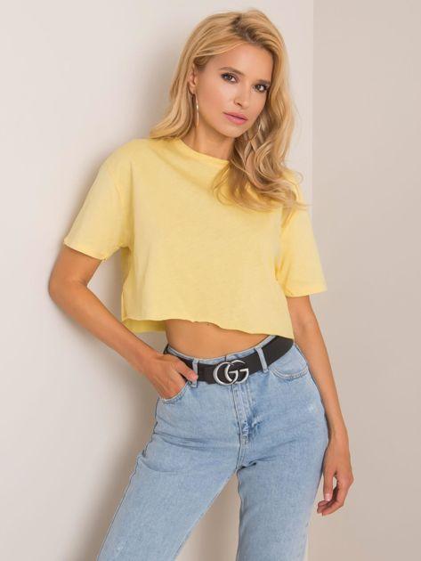 Jasnożółty t-shirt Vicky RUE PARIS