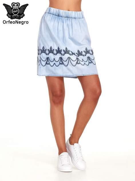 Jeansowa spódnica z haftem                                  zdj.                                  1