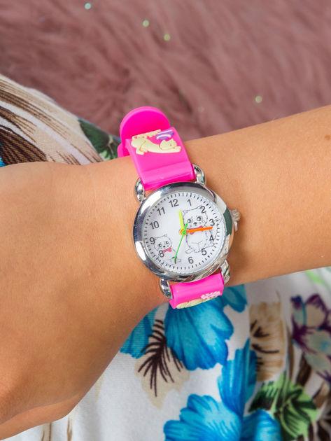 KOTY Różowy zegarek dziecięcy