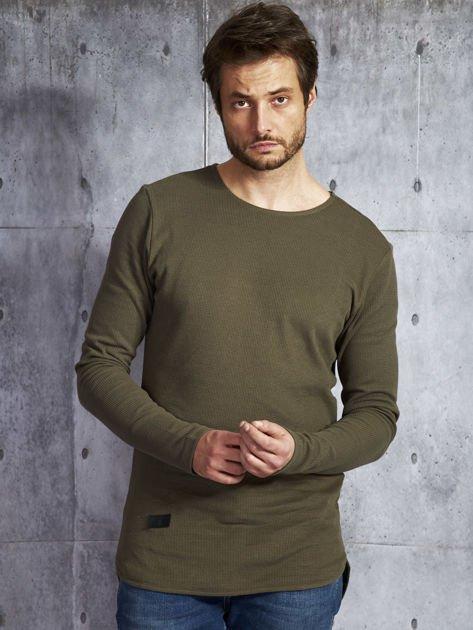 Khaki bawełniana bluzka męska